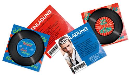 Einladungen Schallplatten-Cover