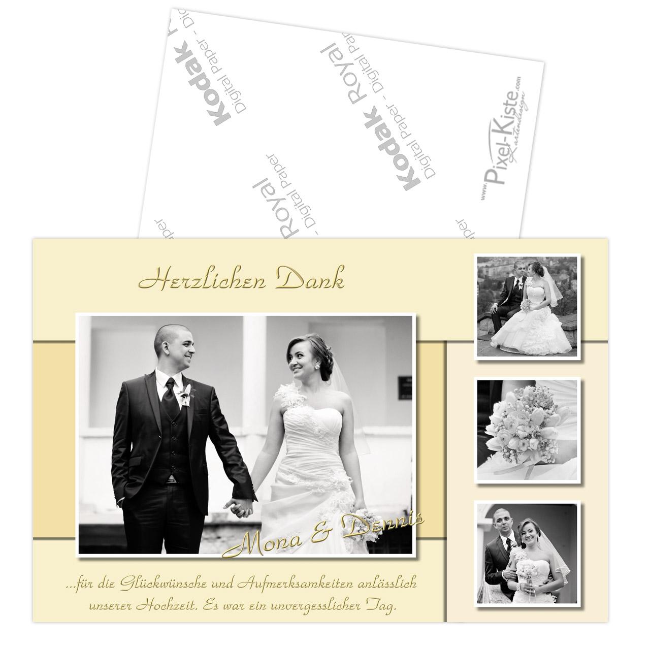 Danksagungskarten Zur Hochzeit Oder Verpartnerung