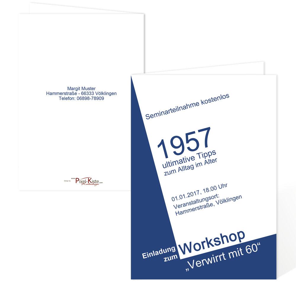 """Einladung 6 Geburtstag: Einladungen Zum Geburtstag """"Workshop"""""""