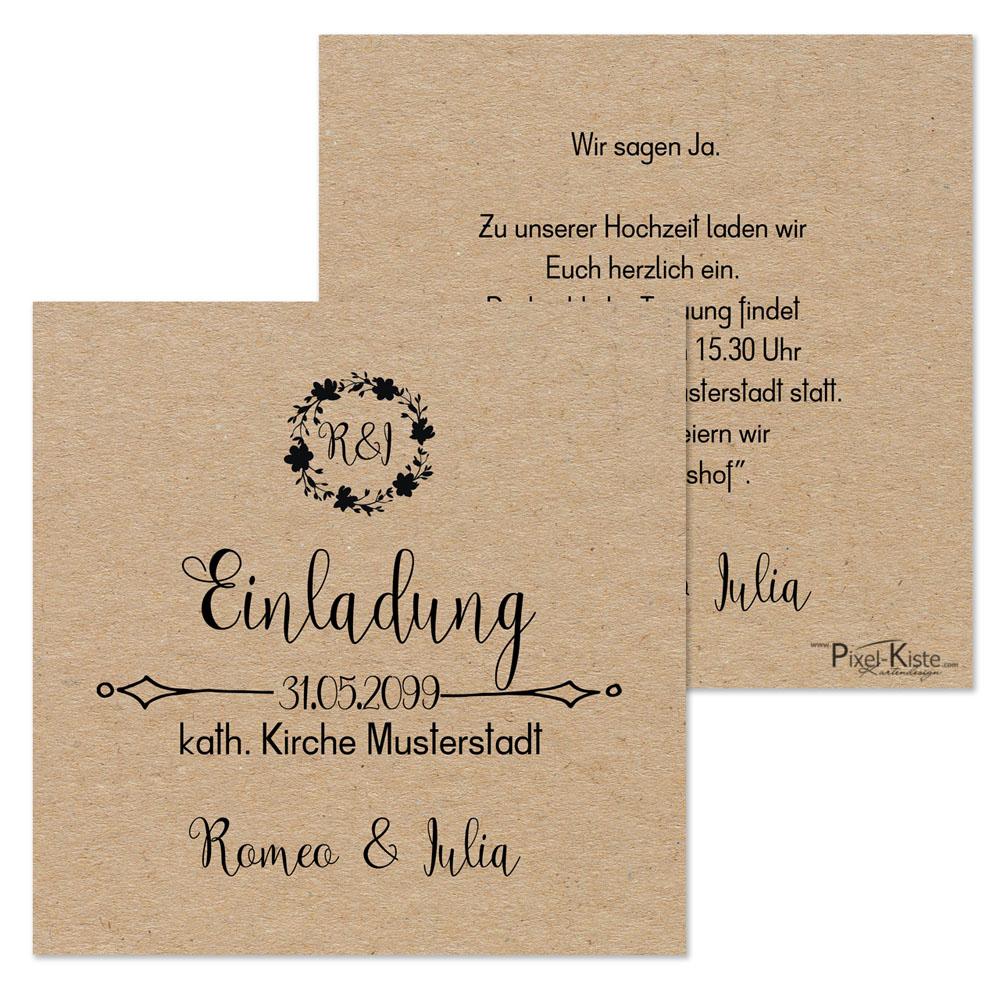 Einladungskarten Hochzeit 1 Euro