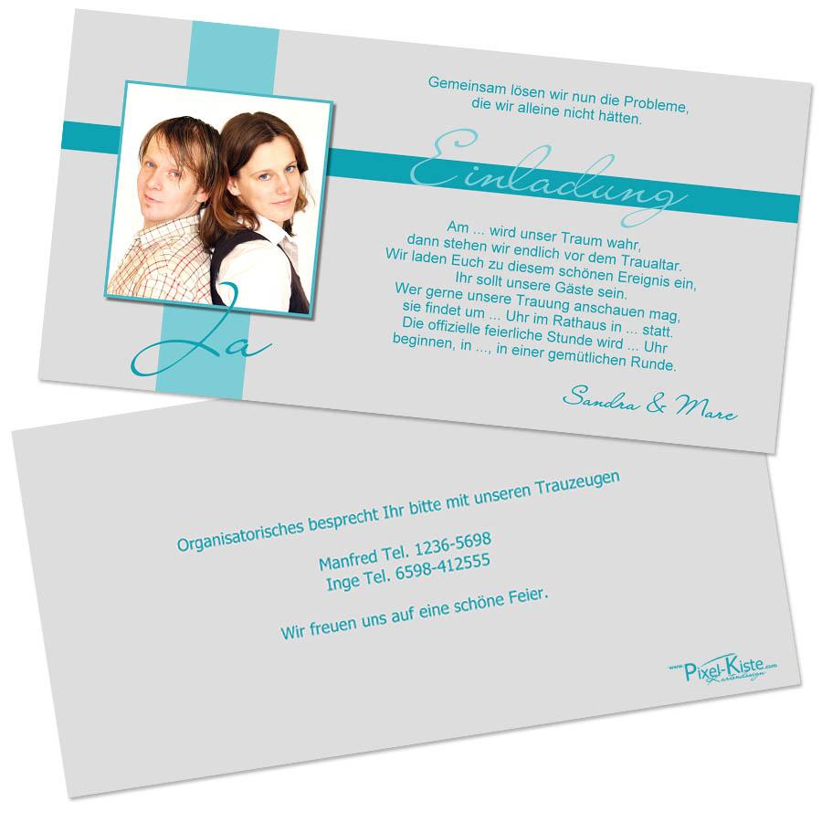 einladungskarten zum polterabend online gestalten, Einladung