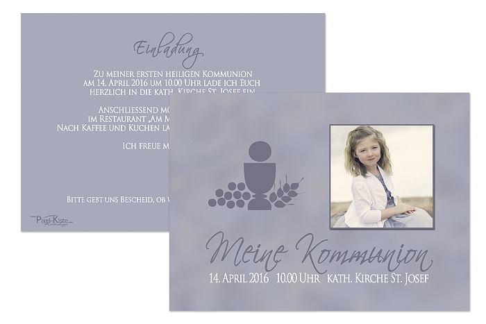 Einladungskarten Konfirmation Bestellen Einladungskarten: Einladungskarten Zur Kommunion Online Bestellen