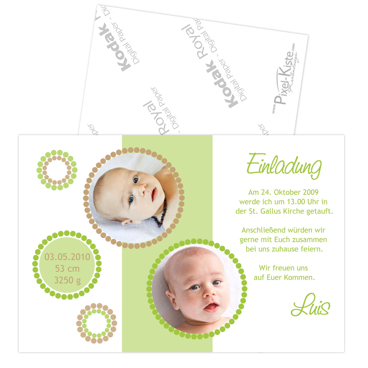 Einladungskarten Taufe Gestalten