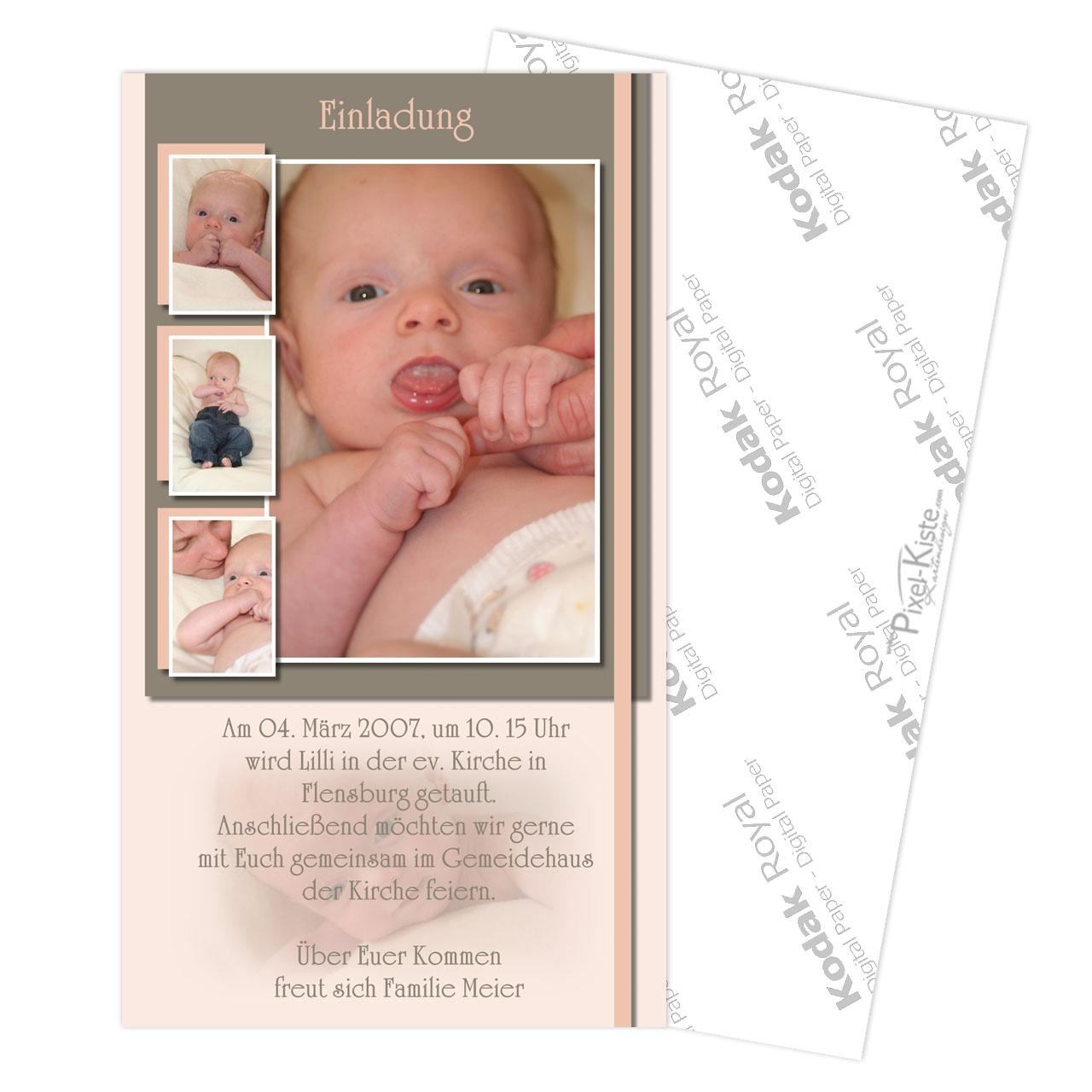 einladungskarten zur taufe individuell mit foto