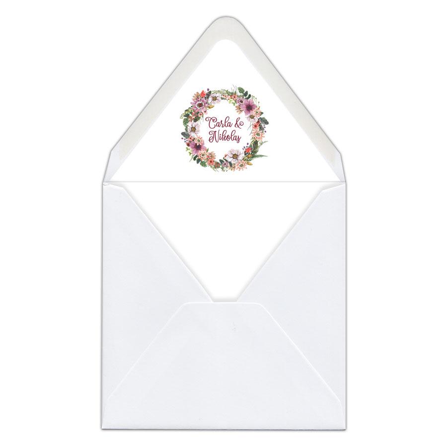 Envelope liner umschlag liner briefumschlag inlett hochzeit gedruckt carla