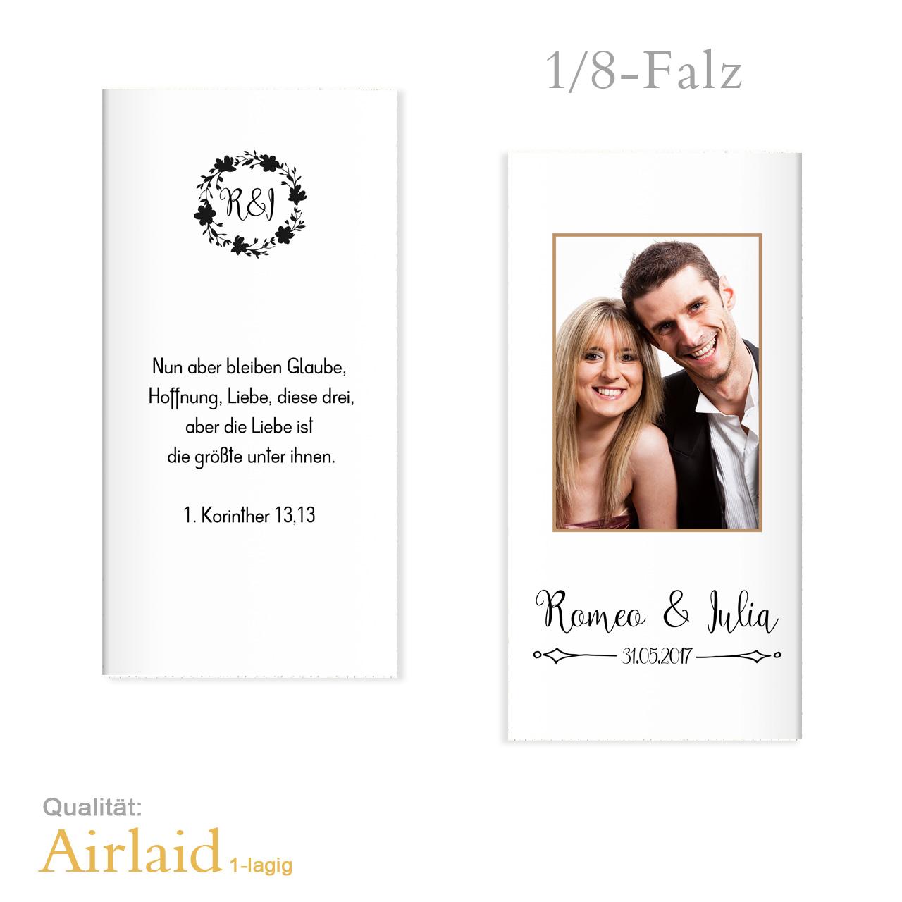 Servietten Zur Hochzeit Bedruckt Mit Foto Romeo Julia Airlaid