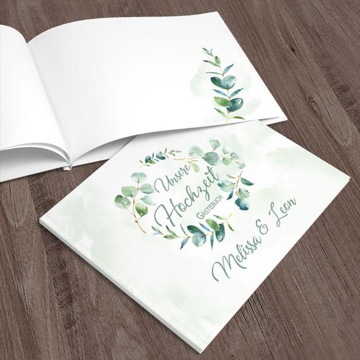 Gästebuch Hochzeit Eukalyptus