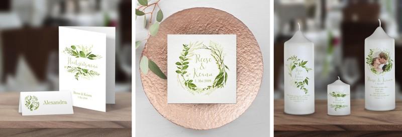 "Greenery Wedding - Hochzeitspapeterie ""Reese & Keanu"""