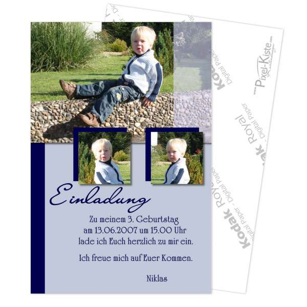 Einladung Kindergeburtstag mit Foto