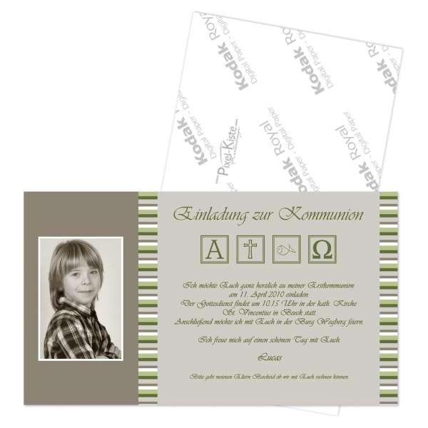 Einladungskarten zur Kommunion Konfirmation mit Foto