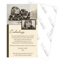 Einladungskarten Kommunion mit Foto