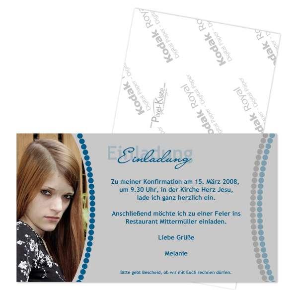einladungskarte zur kommunion firmung konfirmation, Einladung