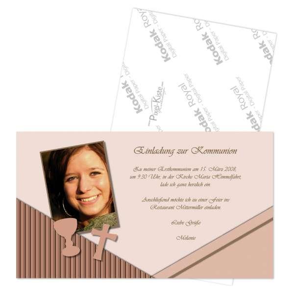 einladung kommunion konfirmation firmung individuell, Einladung