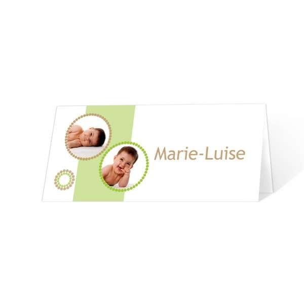 Tischkarten Zur Taufe Namensweihe Luisaluis