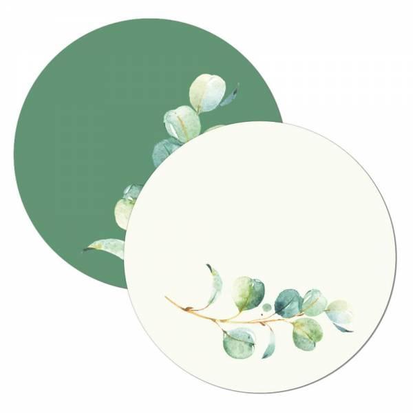 Geschenkanhänger Tischkarte Wunderkerzenanstecker für die Hochzeit mit Eukalyptus