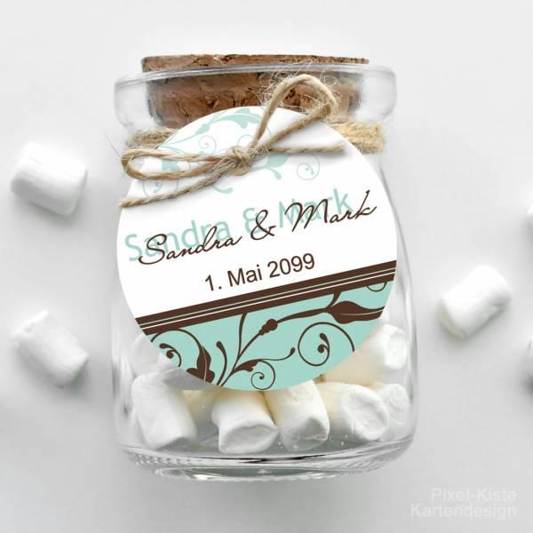 Geschenkanhänger Anhänger Gastgeschenk Pocketfold Hochzeit