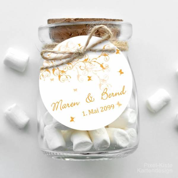Anhänger Gastgeschenk Pocketfold Hochzeit drucken Giveaway