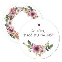 Boho Geschenkanhänger mit Blütenmotiv zur Hochzeit