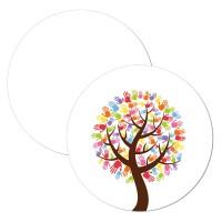 Anhänger für Gastgeschenke Erstkommunion Baum mit Händen