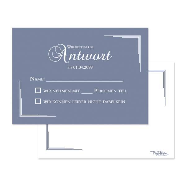 elegante Antwortkarten zur Hochzeit drucken