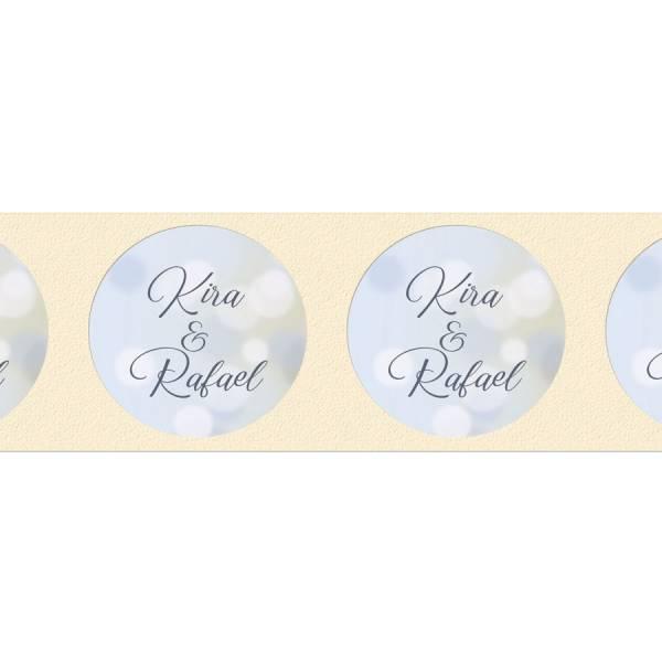 Aufkleber für Gastgeschenke rund Hochzeit online drucken