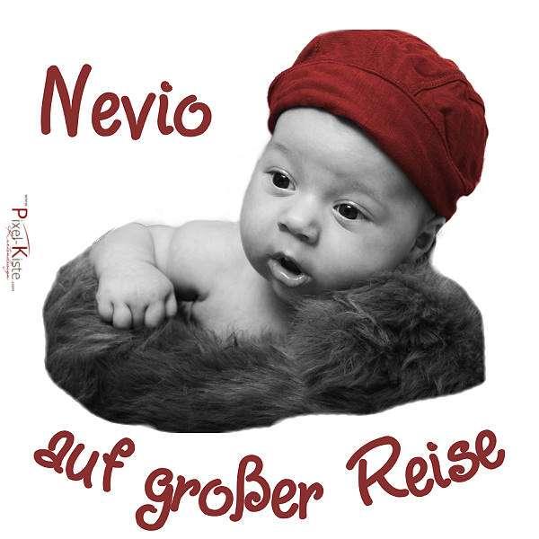 Babyaufkleber mit Foto