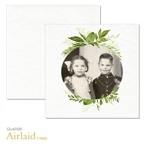 """Geburtstagsservietten mit Foto """"Greenery"""" Airlaid-Material"""