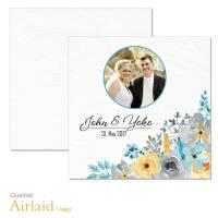 bedruckte Servietten Hochzeit Aquarell Blumen Airlaid