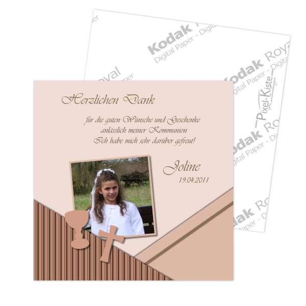 Danksagungskarte zur Kommunion Konfirmation Bibelkärtchen