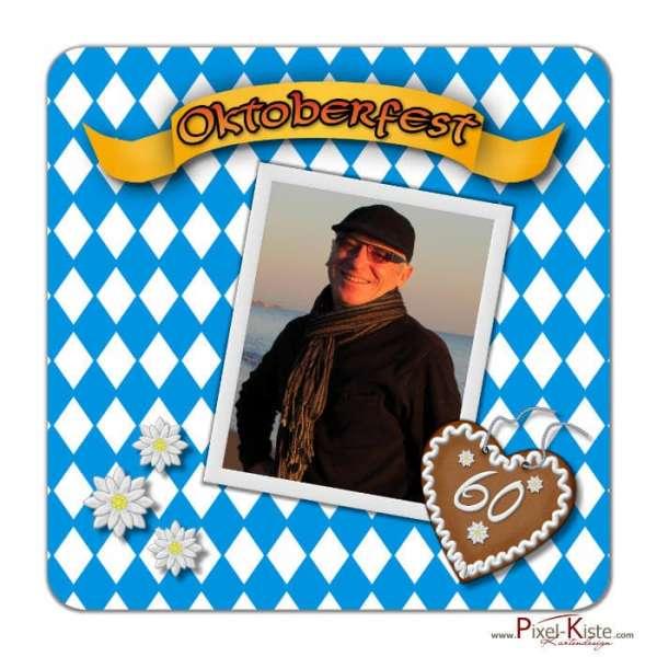 Bierdeckel Oktoberfest mit Foto