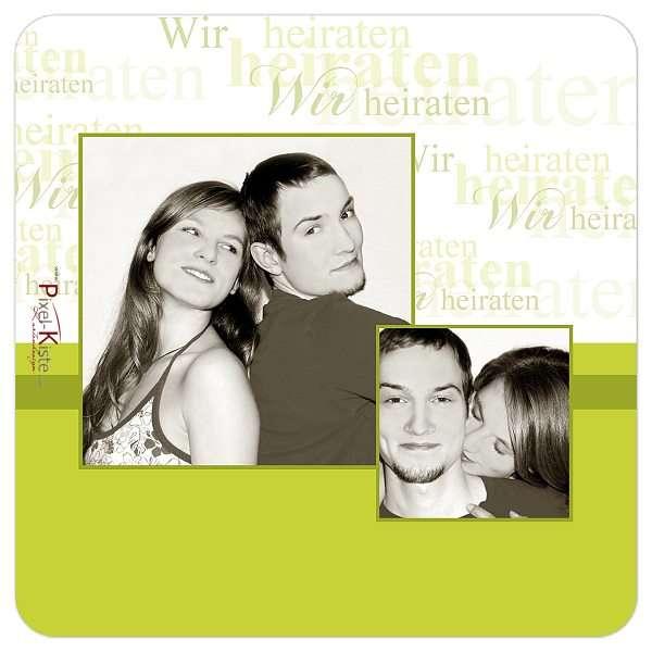 Hochzeits-Bierdeckel mit Foto