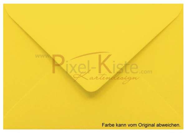 Briefumschlag Briefhülle gelb A6