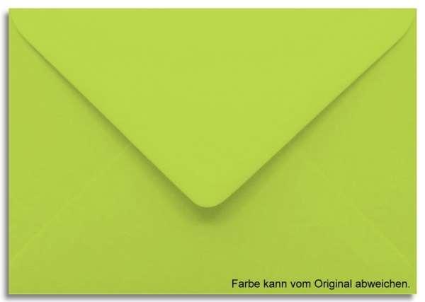 Briefumschlag leuchtgrün 11 x 15,6 cm