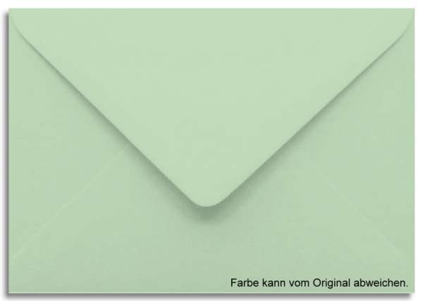 Briefumschlag lindgrün 11 x 15,6 cm