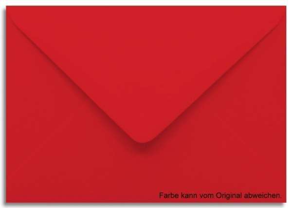 Briefumschlag rot 11 x 15,6 cm