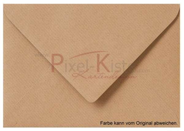 Briefumschlag Vintage braun 11 x 15,6 (A6)