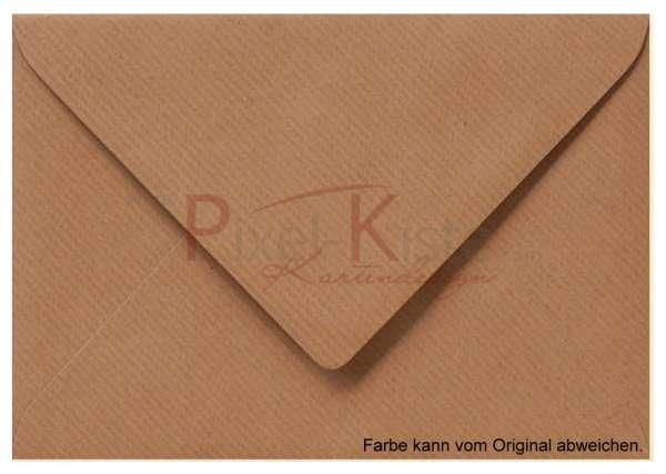 Vintage Briefumschlag braun 11 x 15,6 (A6)