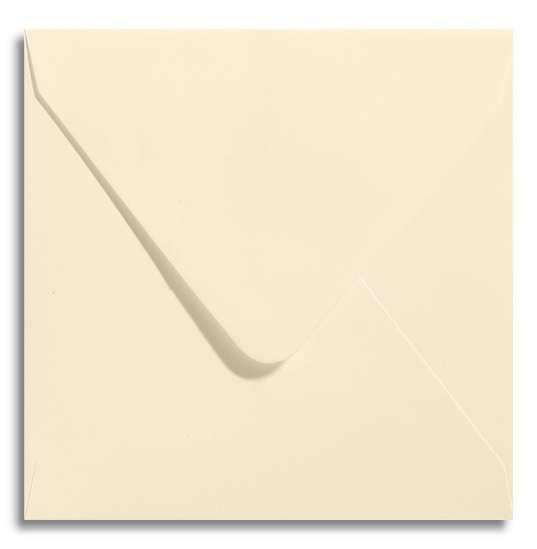 quadratischer Briefumschlag creme