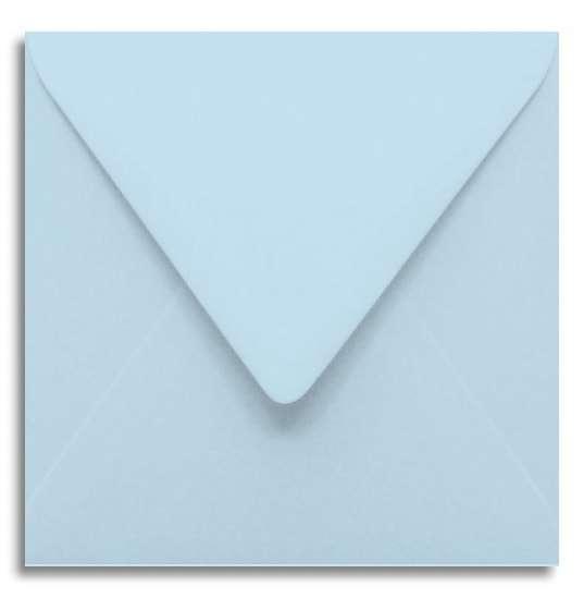Briefumschlag hellblau 12 x 12 cm