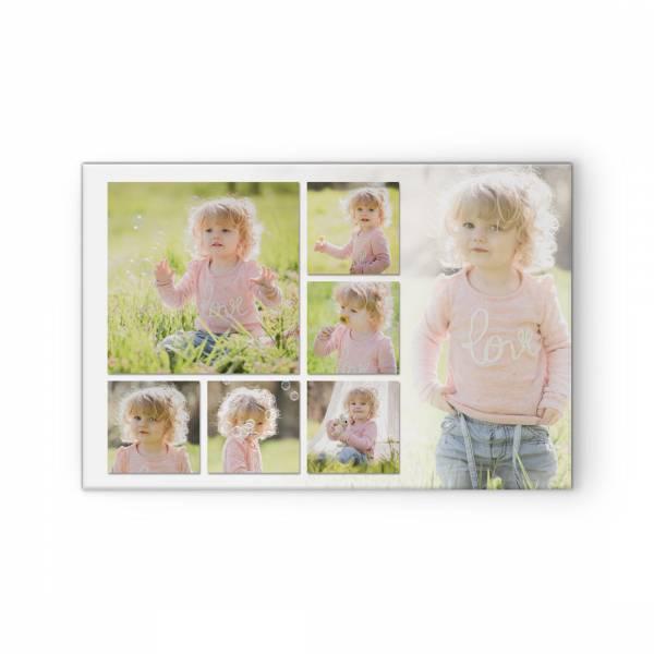 Collage mit quadratischen Fotos - Leinwand oder Poster