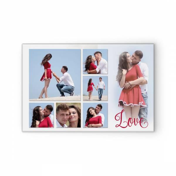Leinwand Keilrahmen Postercollage Fotos zur Hochzeit