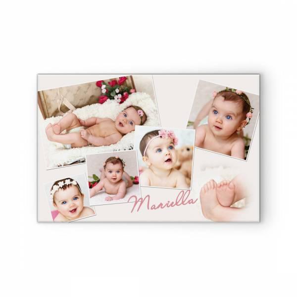 Collage aus Babyfotos als Leinwand oder Poster