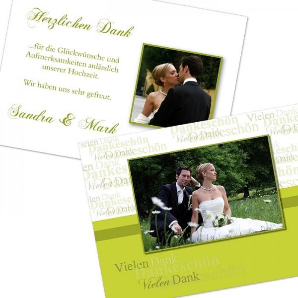 Dankeskarte Hochzeit drucken