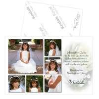Danksagung Kommunion Konfirmation mit 6 Fotos