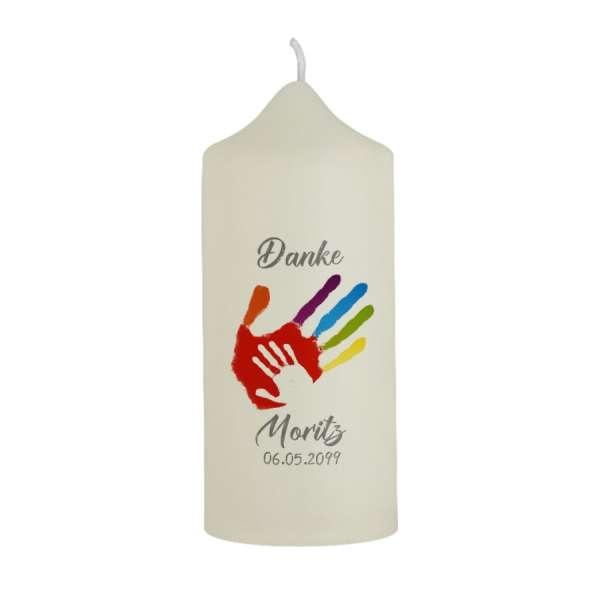 """Dankeskerze Erstkommunion """"Gottes Hand"""""""