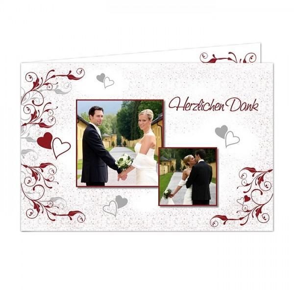 Dankeskarte Hochzeit mit Ornamenten