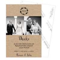 Danksagungen Hochzeit Vintage «Romeo & Julia»