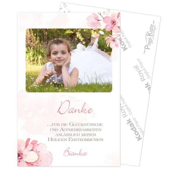 Danksagung Kirschblüte Jugendweihe Kommunion Konfirmation in Fotoqualität