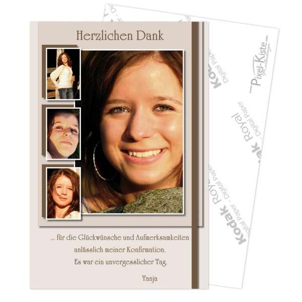 Danksagungskarten zur Kommunion / Konfirmation