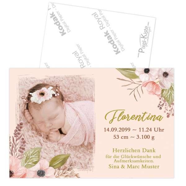 Geburtsdanksagungen Aquarell Danksagungskarten Baby